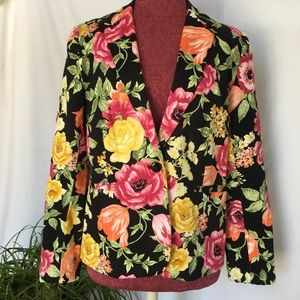 Premise Floral Blazer New Without Tags